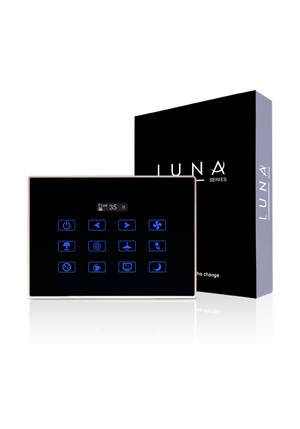 TIS Luna bedside touch panel with thermostat