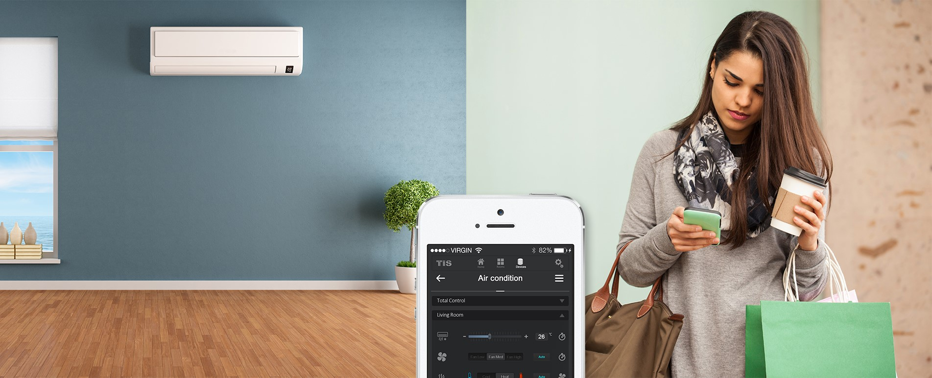 Control your AC anywhere remotely anytime – TIS