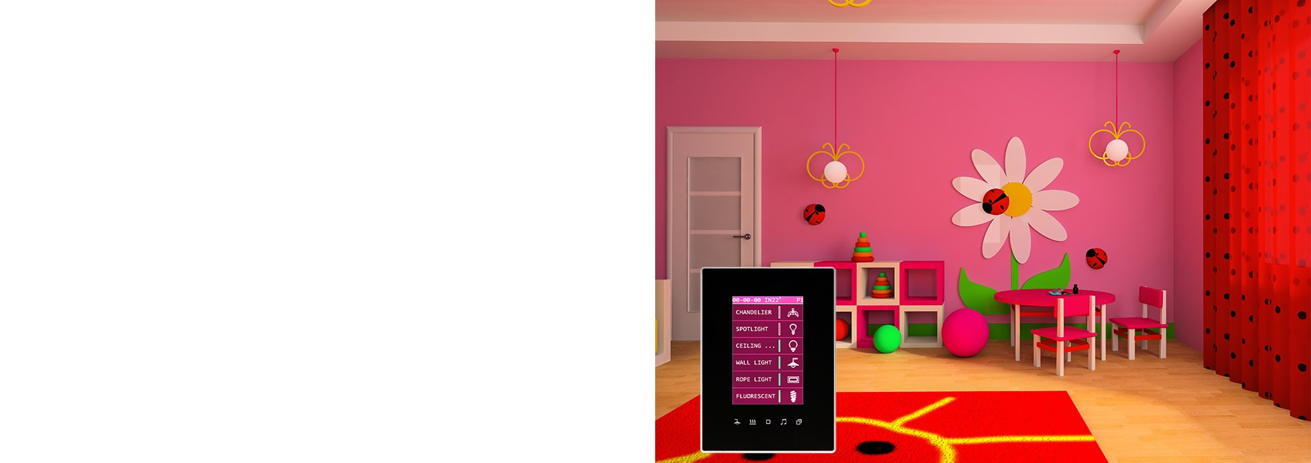 Luna TFT can change its background color- TIS smart home