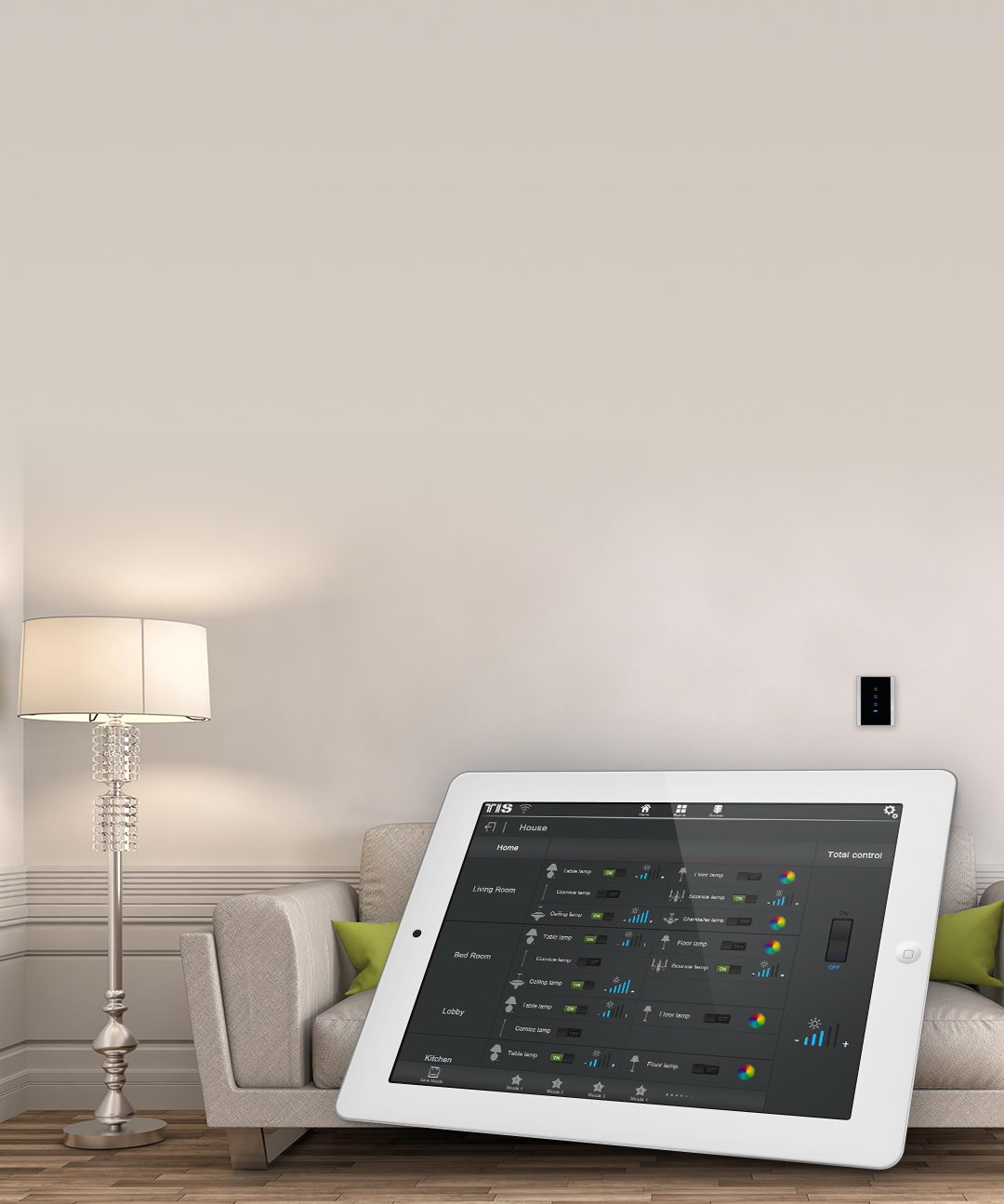 Control your lights mood from your ipad – TIS