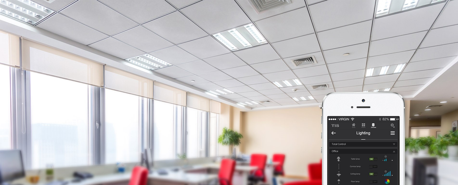 Control your florescent lights in commercial building - TIS