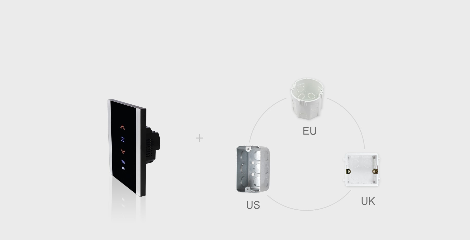 Compatible with US , UK and EU sizes -TIS wall Dimmer