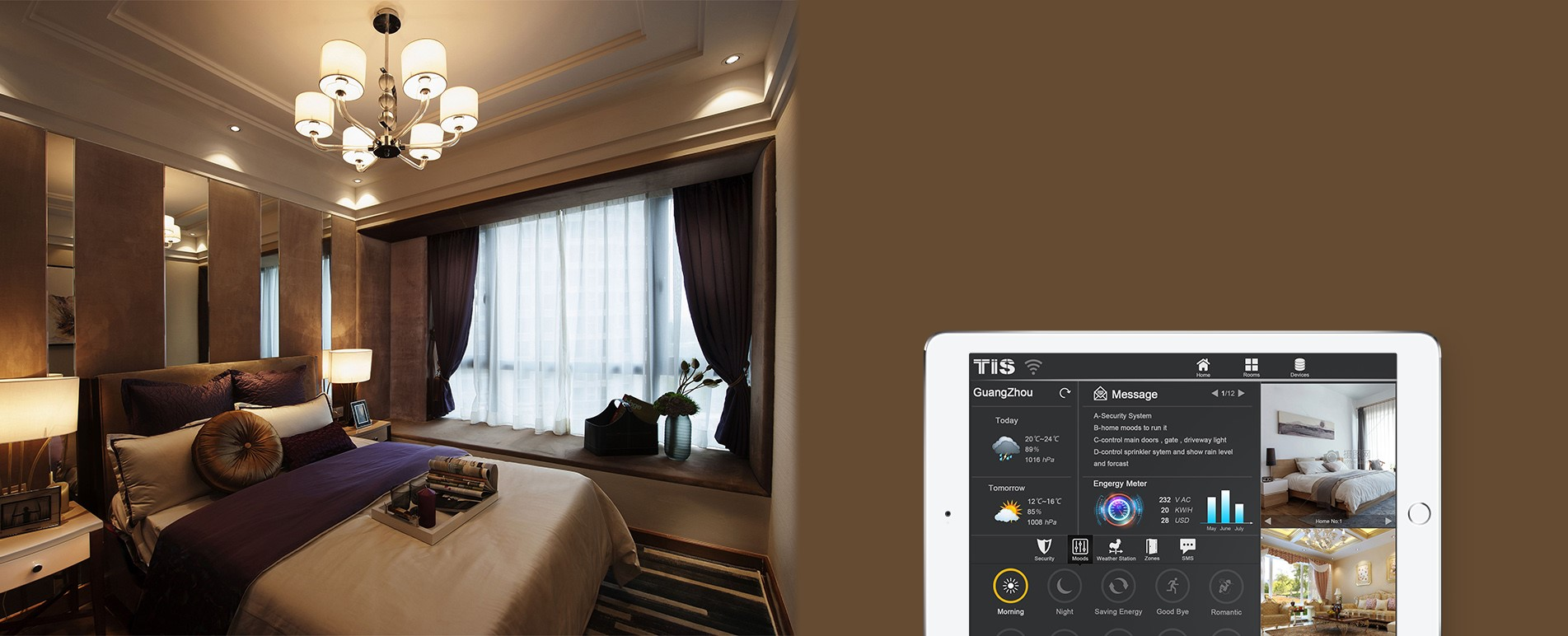 Control your smart moods by ipad, TIS home automation