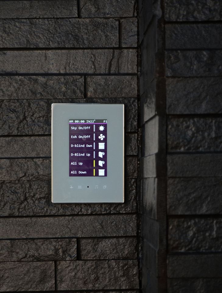 TIS Luna TFT panel installed in one of projects