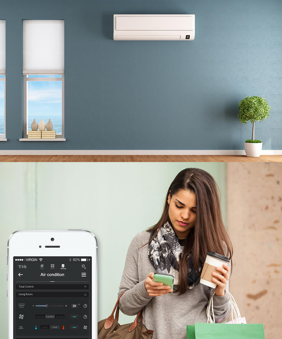 Control your room temperature remotely anywhere - TIS