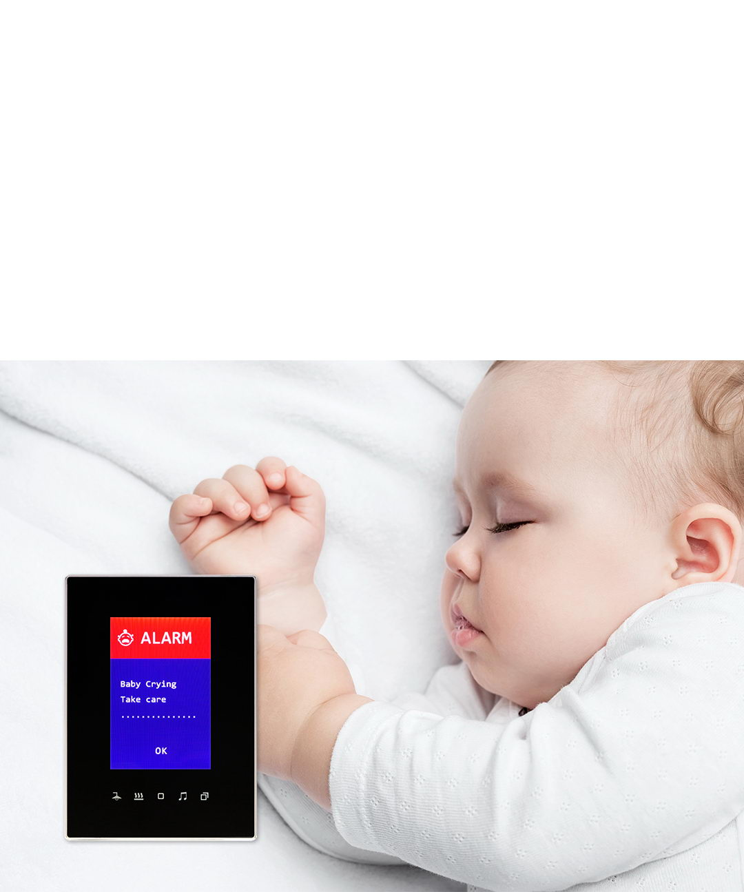 TIS Luna TFT is a baby monitor also with buzzer alert and messages function